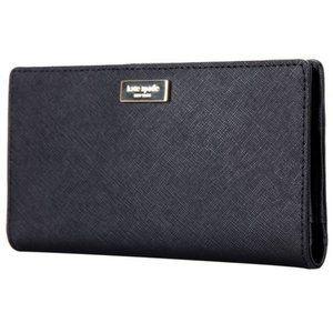 Kate Spade Wallet Leather Clutch Black Laurel Way